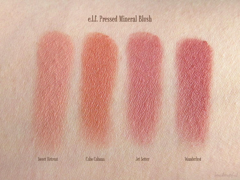 E L F Mineral Pressed Mineral Blush Review Makeupfu