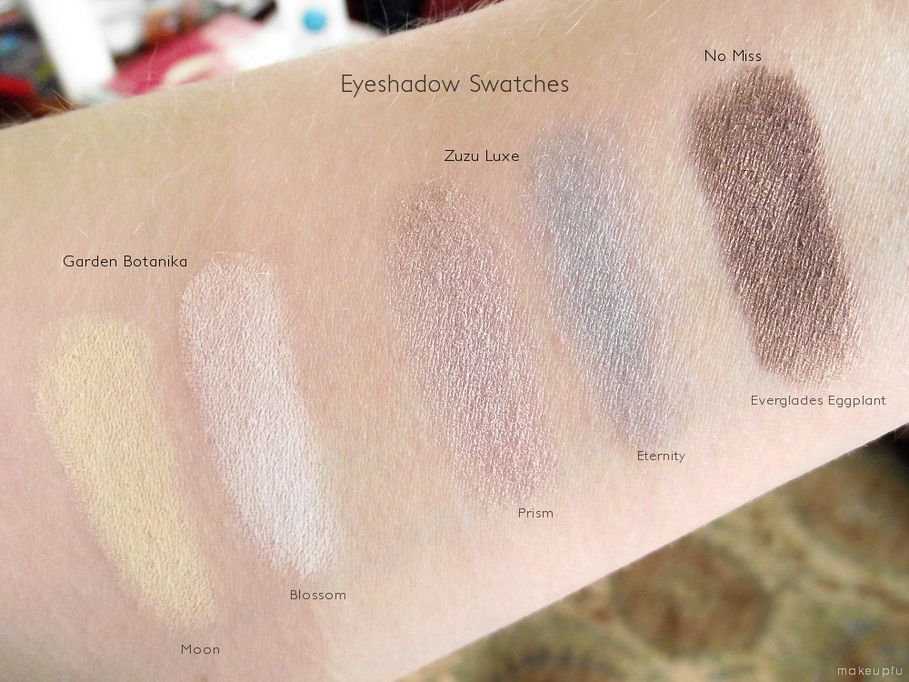 Mf Swatches on Mineral Makeup