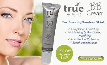 25% off True Natural BB Cream at loveTrueNatural.com