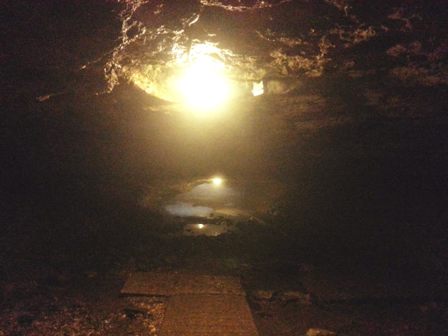 Inside Dancehall Cave at Maquoketa Caves State Park