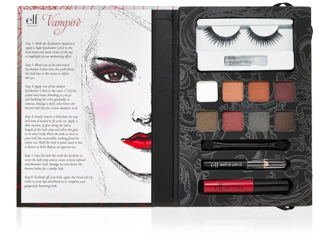Below are the individual products in the 2014 e.l.f. Halloween Collection. Click on either the image or links below the photos to find the products on e.l.f.